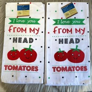 I love you from my head to my tomatoes flour sack